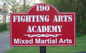 Fighting Arts Academy Sign